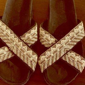 Torrid Embellished Criss-cross Slides
